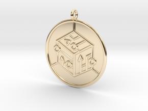 logic Symbol in 14K Yellow Gold