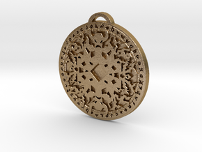 Shaman Class Medallion in Polished Gold Steel