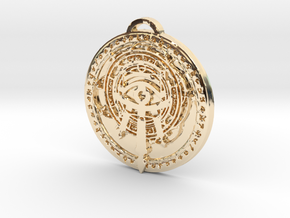 Mage Class Medallion in 14k Gold Plated Brass