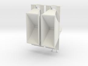 000451 Dump trailer Set in White Natural Versatile Plastic: 1:87 - HO