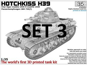 ETS35X01 Hotchkiss H39 - Set 3 - Tracks in Smoothest Fine Detail Plastic