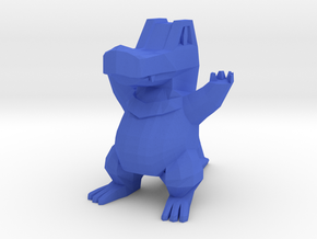 Low Poly Totodile in Blue Processed Versatile Plastic