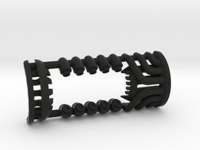 1-Crossguard-2.0 (Korbanth) Part-5 in Black Natural Versatile Plastic