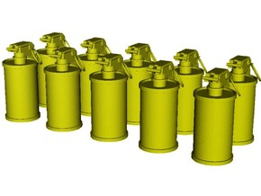 1/20 scale M-18 smoke grenades x 10 in Smooth Fine Detail Plastic