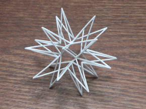 Icosahedron Star in White Acrylic
