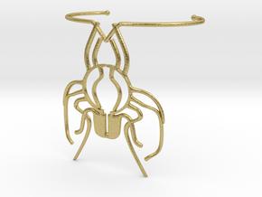 Beeblebracelet in Natural Brass