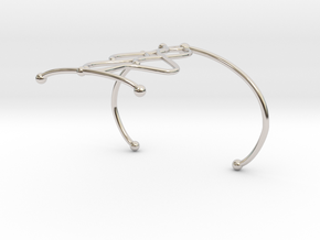 Bracelet7.2 in Rhodium Plated Brass