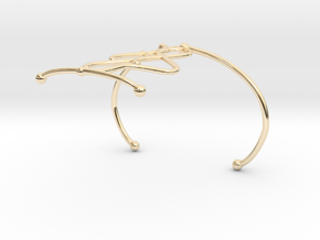 Bracelet7.2 in 14k Gold Plated Brass