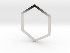 Hexagon 14.56mm in Platinum
