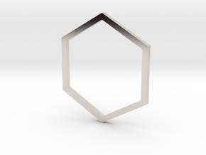 Hexagon 15.27mm in Platinum