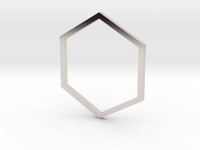 Hexagon 16.30mm in Platinum