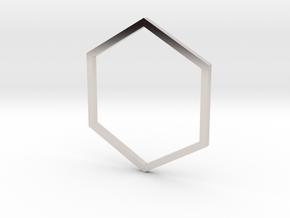 Hexagon 17.35mm in Platinum