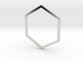 Hexagon 17.75mm in Platinum