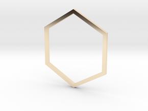 Hexagon 17.75mm in 14K Yellow Gold