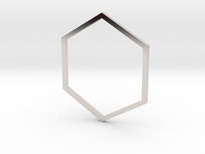 Hexagon 19.41mm in Platinum