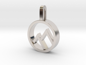 Mountain in Rhodium Plated Brass