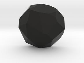 3K Collection - Rock Top Ring in Black Premium Versatile Plastic