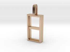 Window in 14k Rose Gold Plated Brass