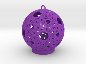 Celtic Ornament in Purple Processed Versatile Plastic