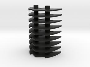 Time Traveler  Microstands in Black Natural Versatile Plastic: Large