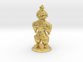 Dogū statue in Polished Brass (Interlocking Parts)