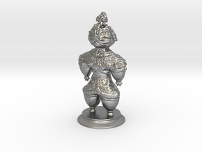 Dogū statue in Natural Silver (Interlocking Parts)