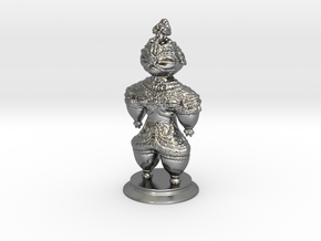 Dogū statue in Polished Silver (Interlocking Parts)
