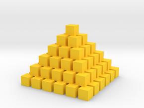 Pyramid in Yellow Processed Versatile Plastic