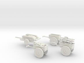 1/72 Infanteriekarren set of 4 in White Natural Versatile Plastic