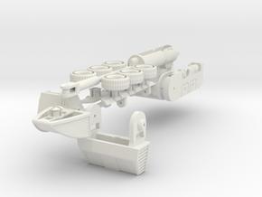 Combiner Wars Drone Roller in White Natural Versatile Plastic