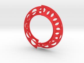 Mobius pendant in Red Processed Versatile Plastic: Medium