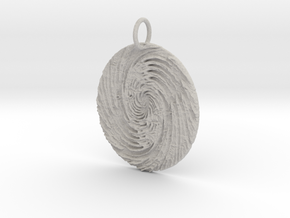 Circe's Whirlpool Pendant in Natural Full Color Sandstone: Large