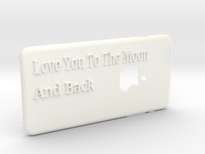 love you to the moon Iphone6Plus case in White Processed Versatile Plastic