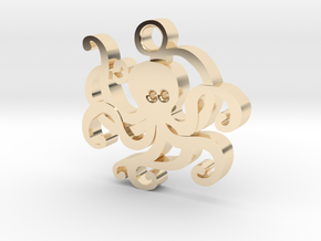 Kraken Pendant in 14k Gold Plated Brass