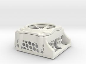 ARRMA BLX185 ESC Cover in White Natural Versatile Plastic