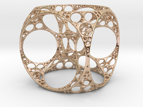 Apollonian Cube Small in 14k Rose Gold Plated Brass