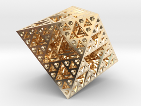 Sierpinski Octahedron Small in 14K Yellow Gold