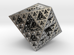Sierpinski Octahedron Small in Natural Silver