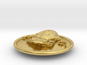 Official Pickwick Club Button 2011 in Polished Brass
