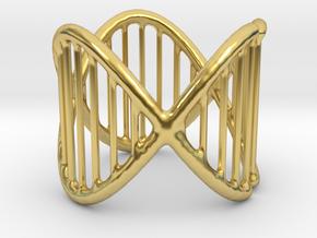 Ring 17 in Polished Brass (Interlocking Parts)