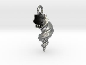 Shell Pendant in Natural Silver (Interlocking Parts)
