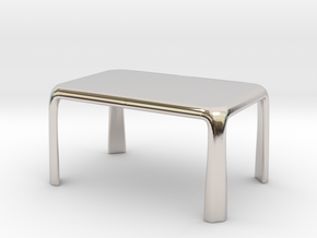 1:50 - Miniature Modern Dining Table  in Platinum