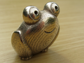 Pocket frog (v2) in Polished Bronzed-Silver Steel
