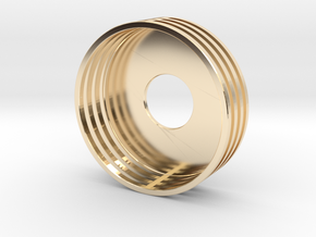 Slice Beauty Ring 22MM in 14k Gold Plated Brass