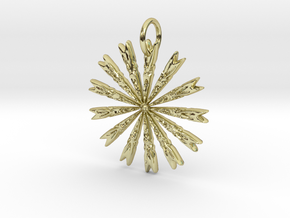 Native Arrow Pendant in 18K Yellow Gold: Medium