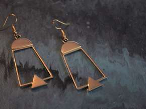 Modern Vintage Earrings in Polished Brass