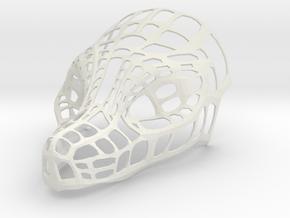 Mask: Dragon Head in White Natural Versatile Plastic