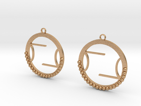 Wright Hoop Earrings in Natural Bronze