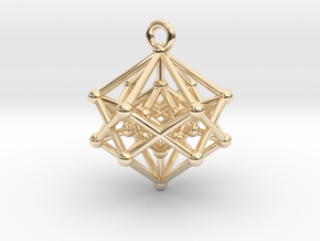 Introspection Pendant in 14k Gold Plated Brass