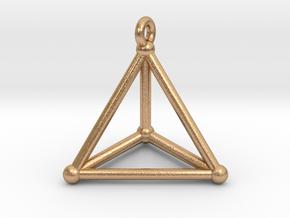 Hypersimplex Pendant in Natural Bronze